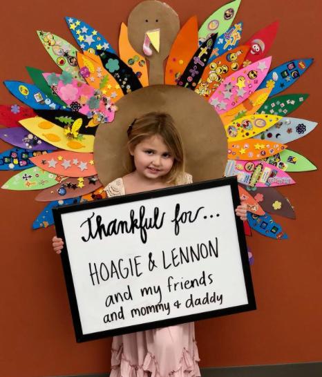 The daughter of JORDAN FELIZ shares what she's thankful for…